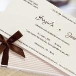 Convite que seguiu tendências internacionais com informações objetivas da celebração.