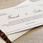 Cartão e convite de casamento delicado e discreto.