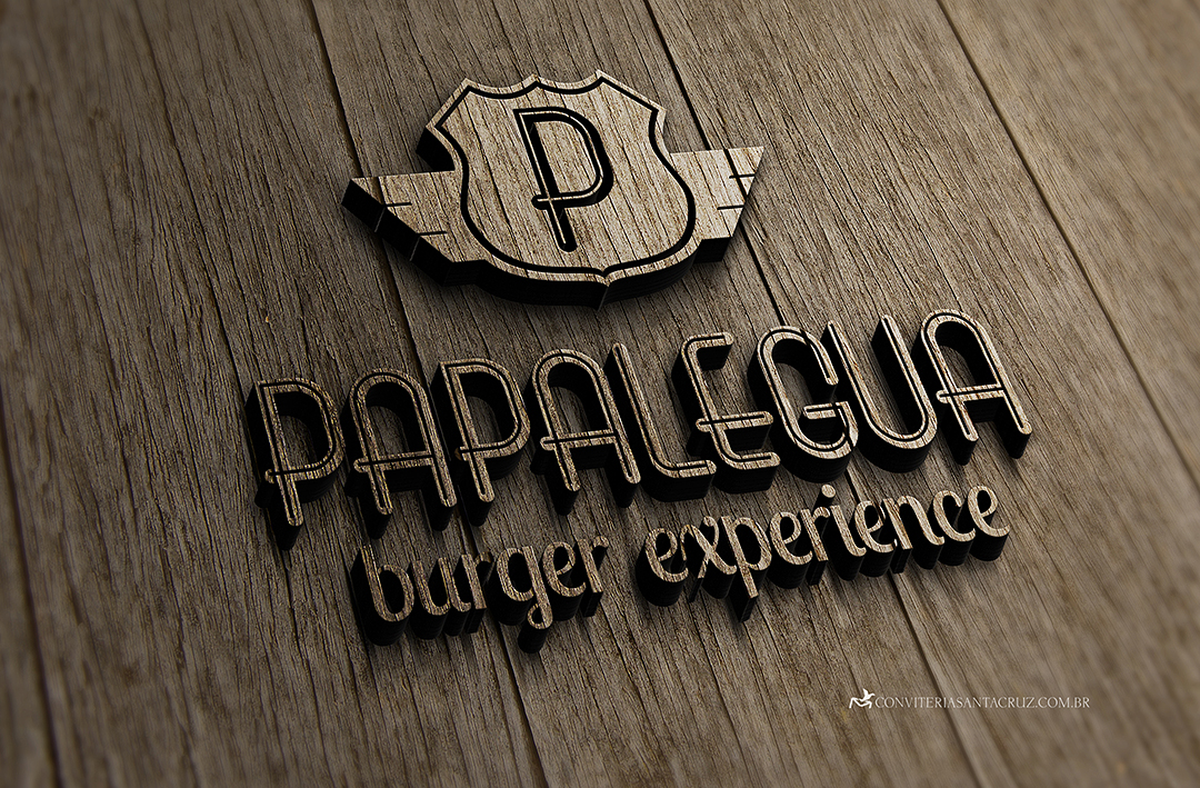 Papalégua - Burger Experience: versão monocromática.