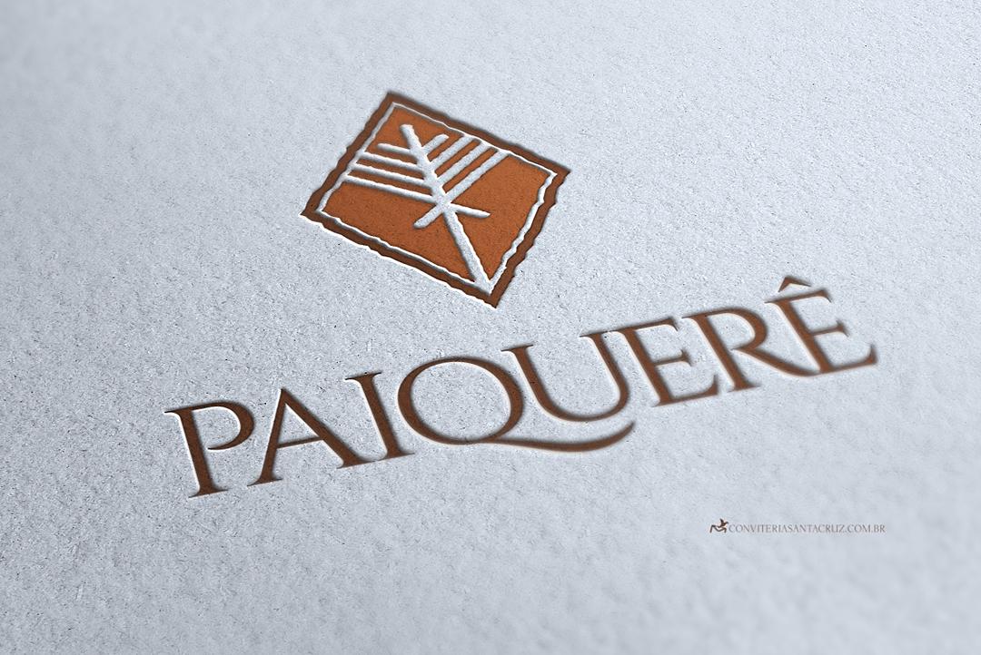 Logotipo em tons de marrom para simbolizar a terra fértil de Paiquerê.