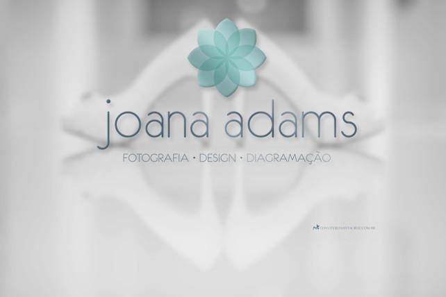 Identidade visual corporativa: logotipo Joana Adams, Fotografia, Design e Diagramação de Álbuns Fotográficos.