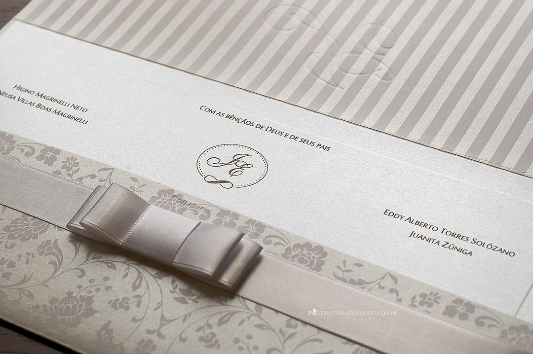 Convite de casamento: detalhes românticos e delicados.