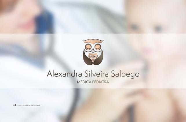 Identidade visual: logotipo para a médica pediatra Alexandra Silveira Salbego.