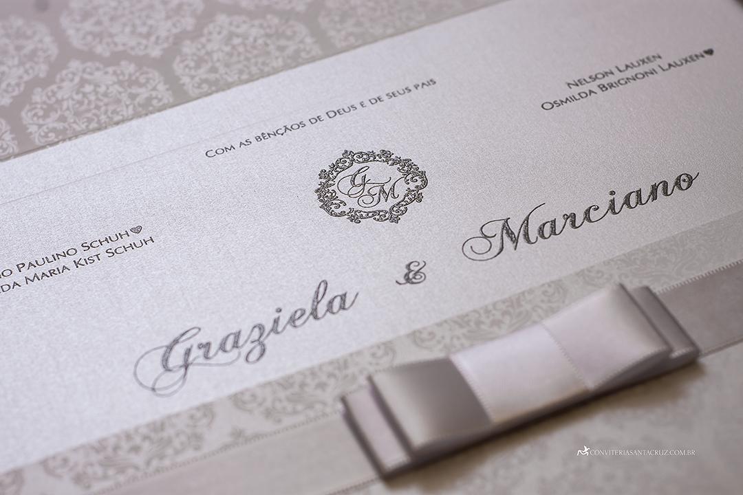 Convite de casamento com cristal Swarovski e totalmente personalizado (4)