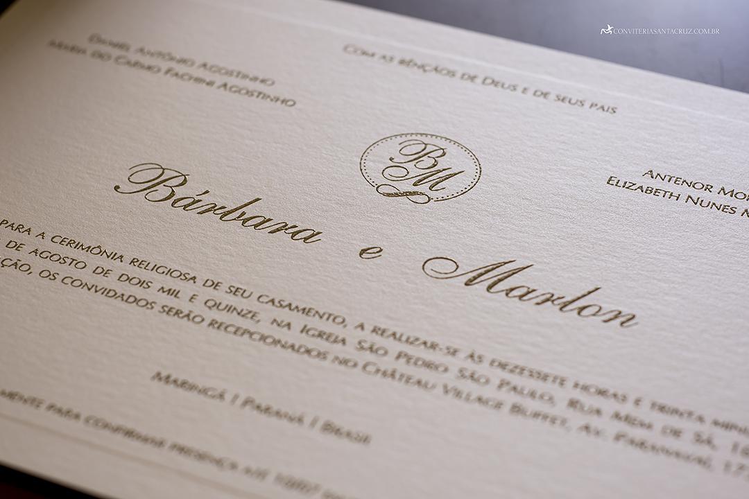Convite de casamento prático e elegante com monograma e lacre de cera (9)
