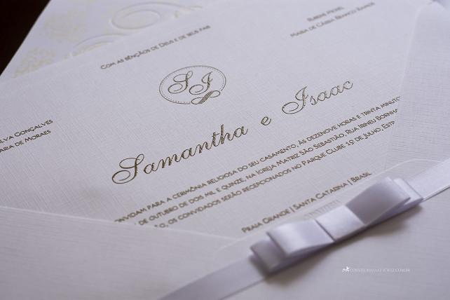 Convite de casamento simples, chique e elegante. (4)