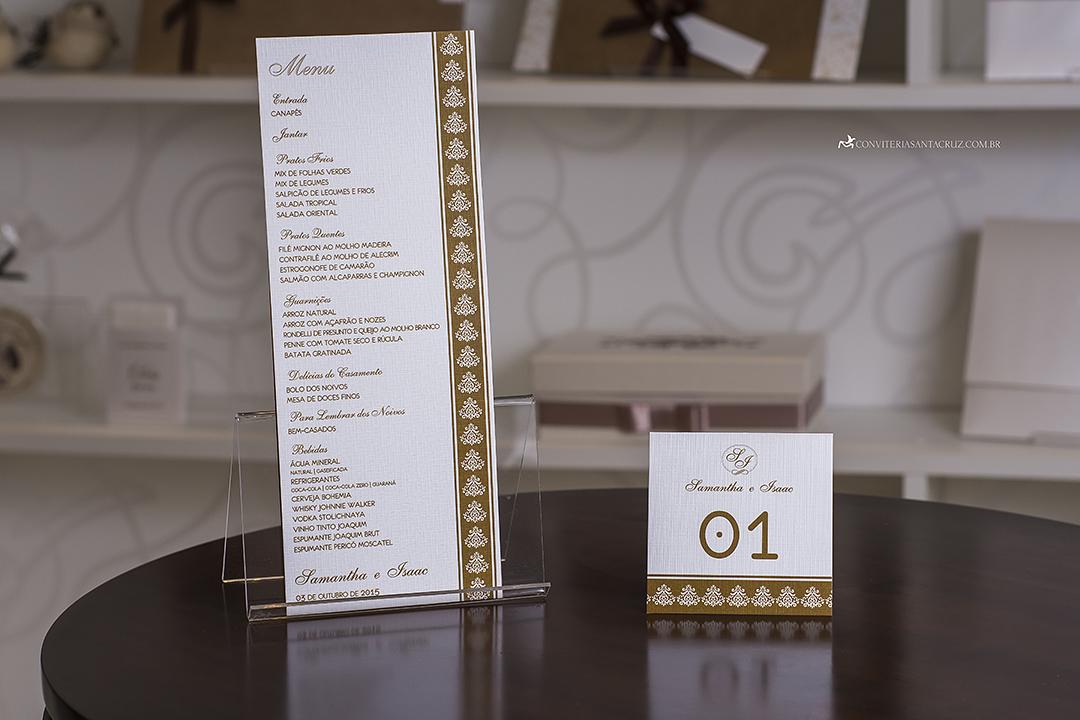 Convite de casamento simples, chique e elegante. (5)