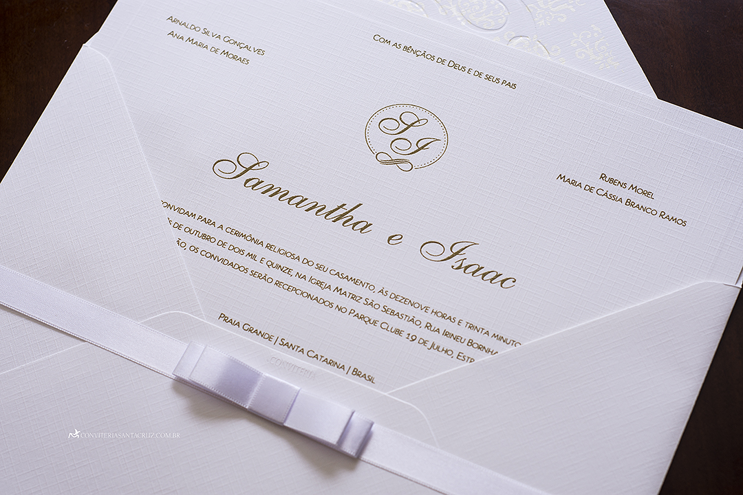 Convite de casamento simples, chique e elegante. (7)