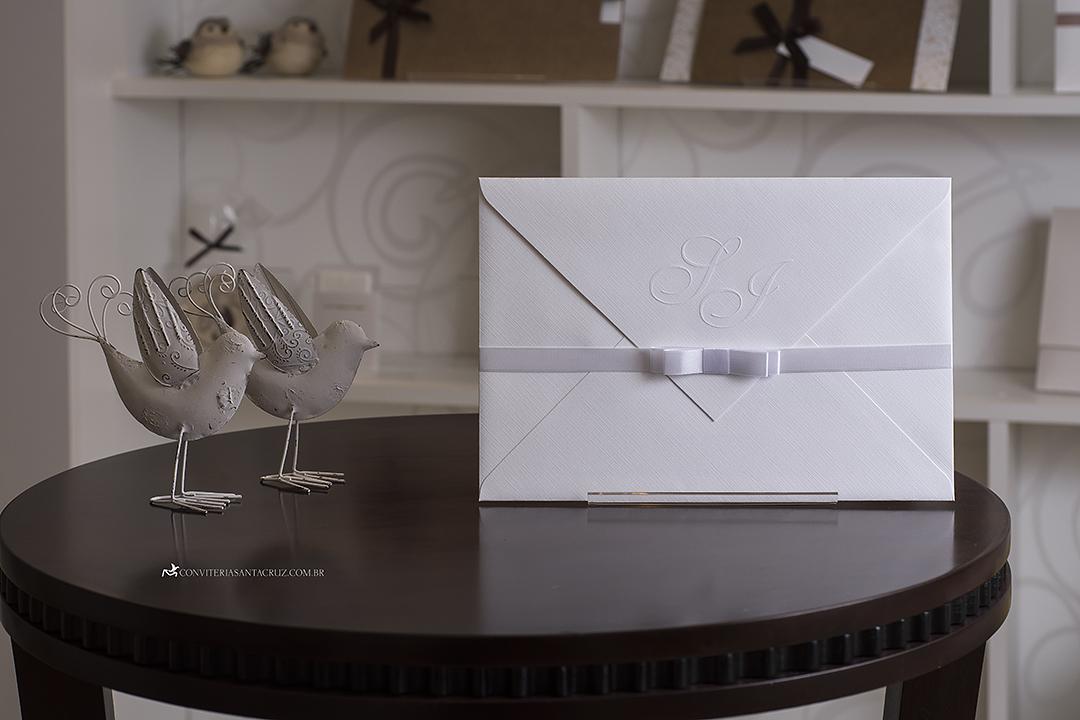Convite de casamento simples, chique e elegante. (8)