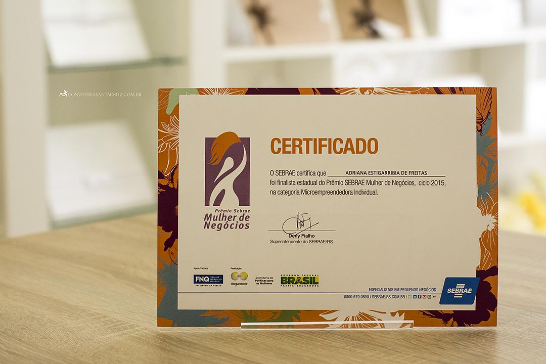 Conviteria Santa Cruz no Prêmio SEBRAE Mulher de Negócios 2015. (2)