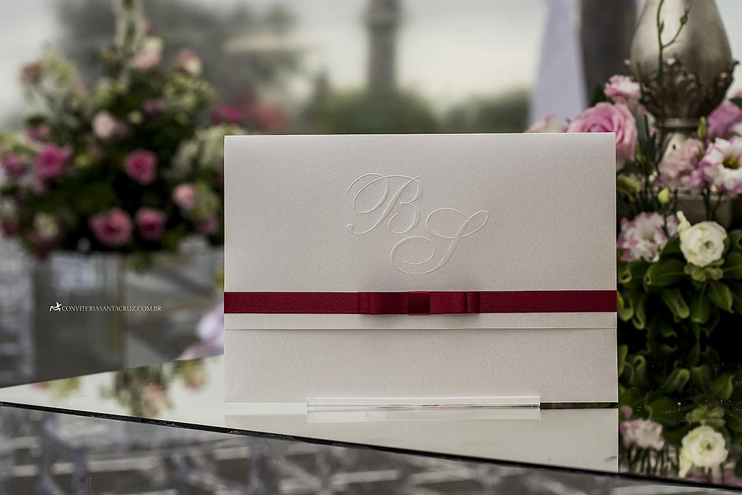 Excepcional Convite de casamento simples, elegante e inspirador com acabamento  SJ65