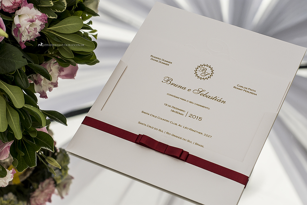 Extremamente Convite de casamento simples, elegante e inspirador com acabamento  AP58