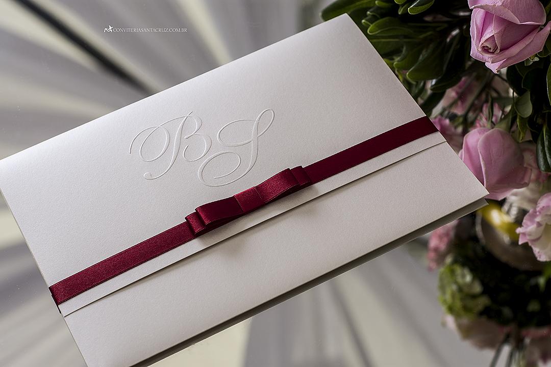 Preferência Convite de casamento simples, elegante e inspirador com acabamento  OI69